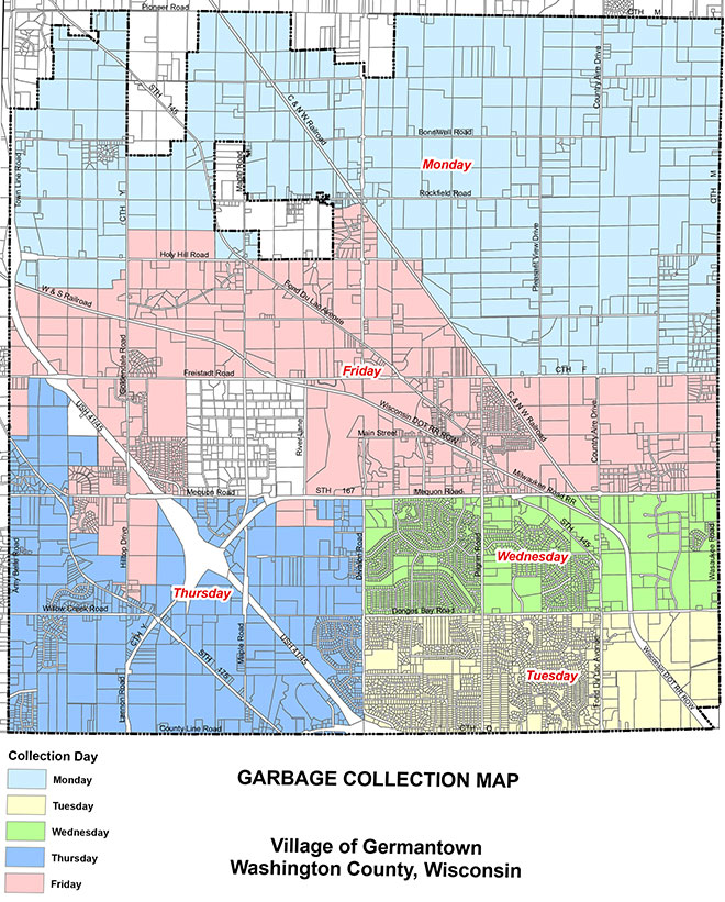 Germantown, Wis. Garbage Collection Map